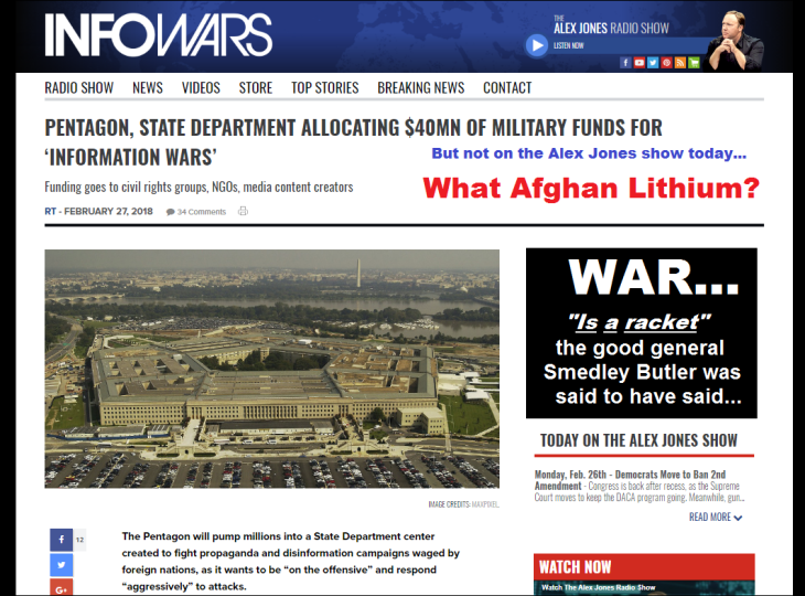 0001000 ~ INFOWARS Pentagon FACE PAGE