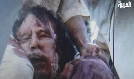 Dead Gaddafi fake