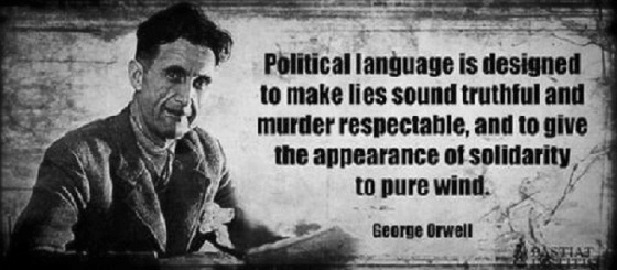 Orwell political language 560 BW