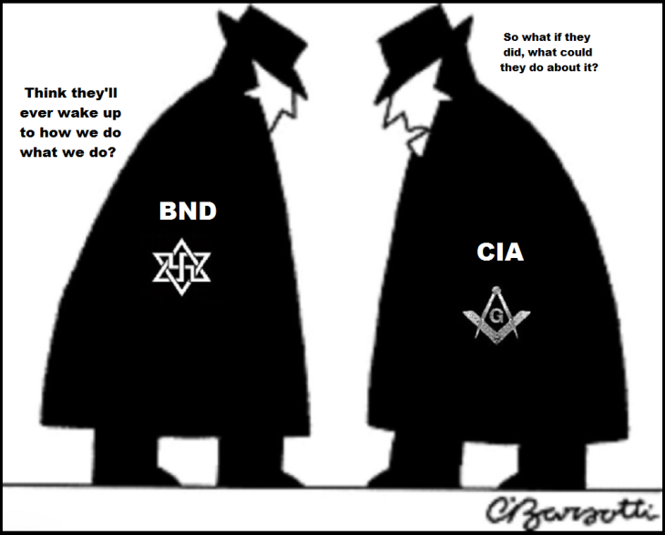 Spy Vs Spy black and white ~ BND CIA