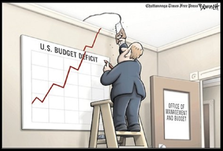 0003000 The deficit thru the roof