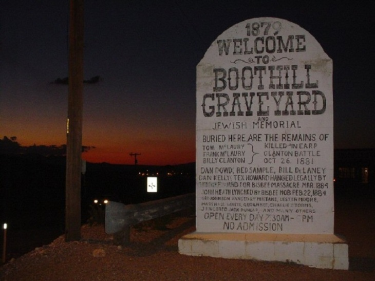 Boot Hill graveyard