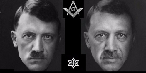 Erdogan Adolf Hitler Mason Fascist and Zionist