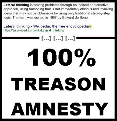 Lateral thinking treason amnesty no logo 380