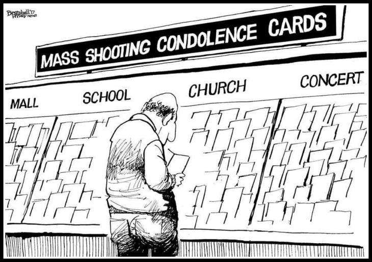 Mass shoooting confolence cards cartoon