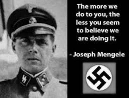 Mengele ~ Wat we do to you ~ Black and white