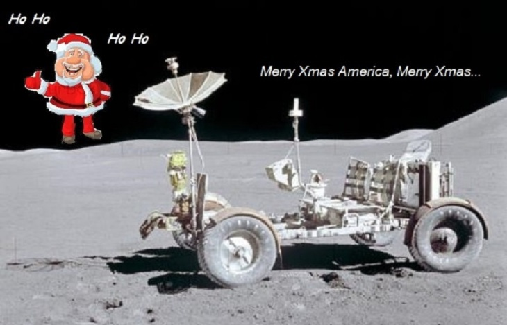 Moon Buggy Santa Claus