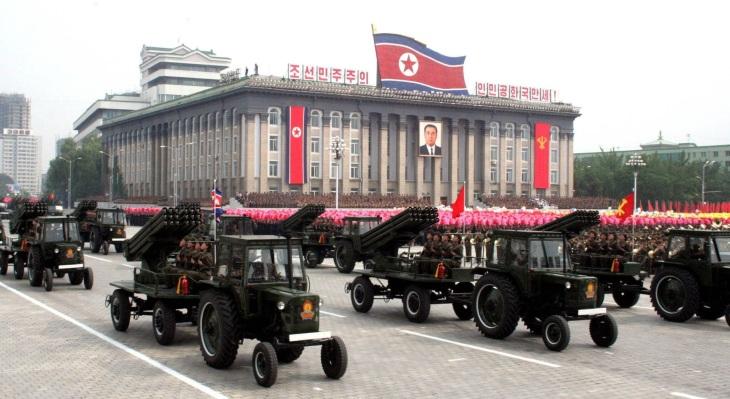 North Korean attack tractors