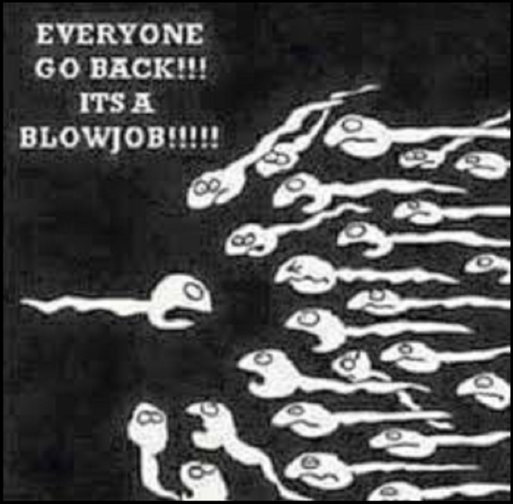 Sperm ~ Everyone go back, it's a blowjob