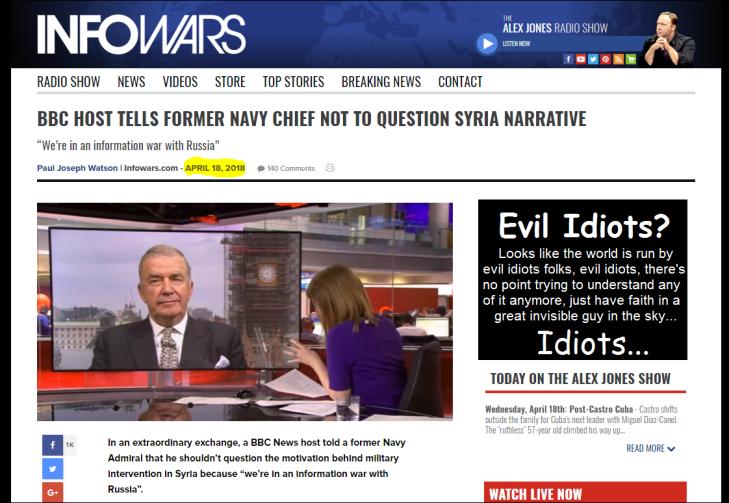 0001000 Evil vile idiots Information war