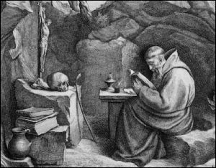 0001015 ELO-IDIOTZA Monk in cave