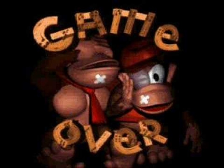 Donkey Kong Game Over 800