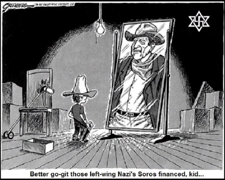 John Wayne ~ Boy ~ Soros fonanced Nazi's