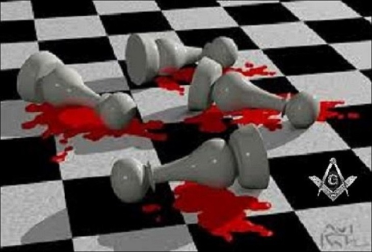 Masonic Mason bloody chess board (2)