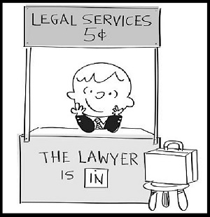 Lawyer 5 cents black and white 300