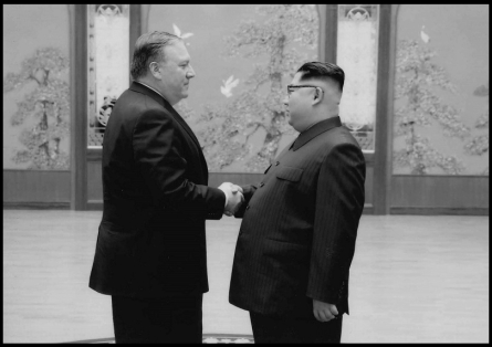 Pompeo and Kim Jong Un