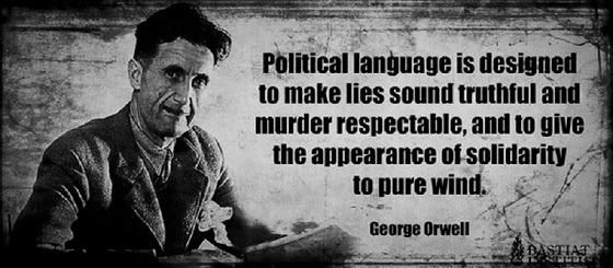 Orwell political language BW 560 x 560