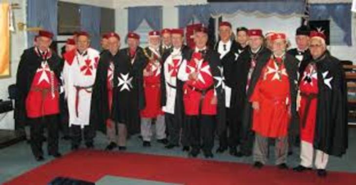 Knights of Malta in RED CROSS