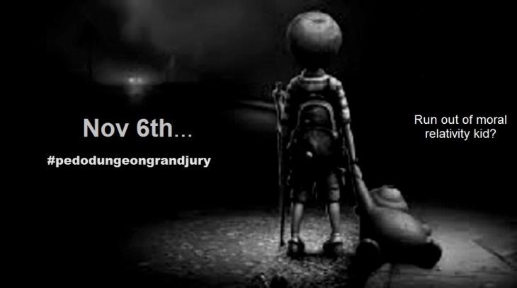 Miss the Bus Kid Pedo Dungeon grand jury Nov 6 moral relativity 1000