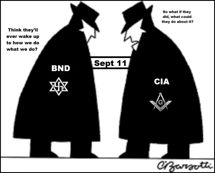 CIA x BND Masonic Zionist Spies Spy Sept 11