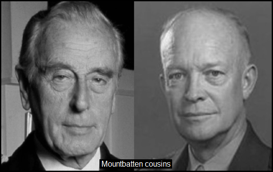 Mountbatten Eisenhower COUSINS 560