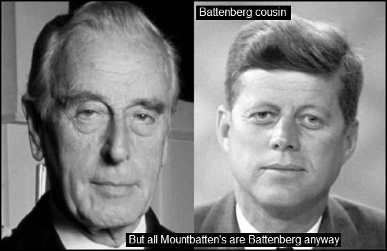 Mountbatten Kennedy Battenberg COUSIN 560