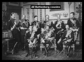 All Battenberg cousins ~ Masonic Kings LARGE