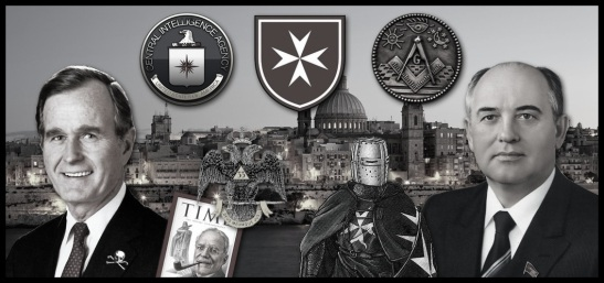cia-masonry-malta-collage Bush Gorbachev
