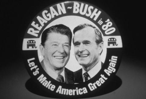 Reagan Bush MAKE AMERICA GREAT Crop LARGE