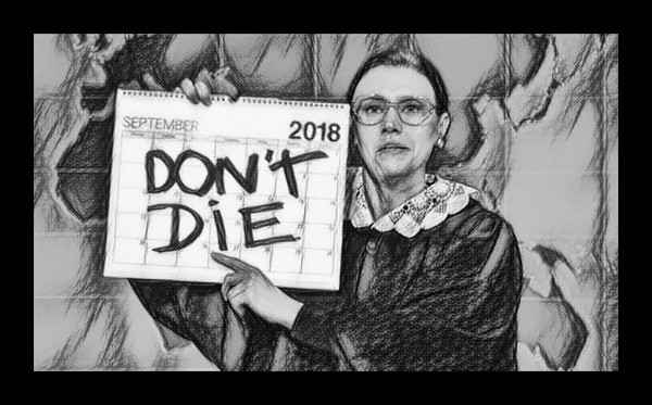 Ruth Bader Ginsberg DON'T DIE Sketch 600