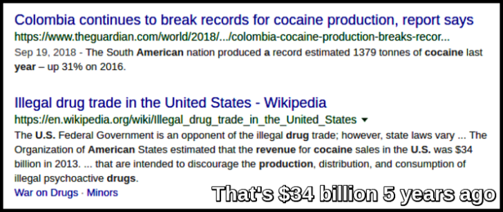 COCAINE $34 billion x 2013