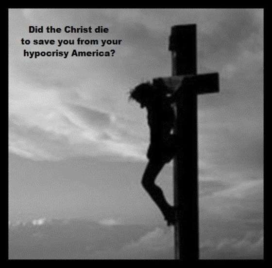Christ cross hypocrisy 560 border
