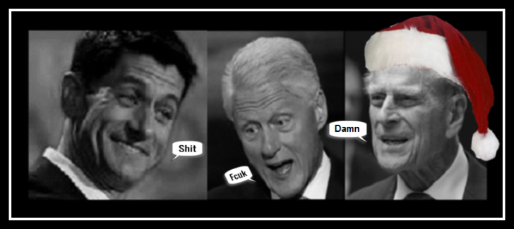 Ryan Slick Willy Clinton and HRH Phillip Large DAMN