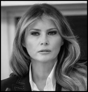 Mellania Trump Screenshot BW Small