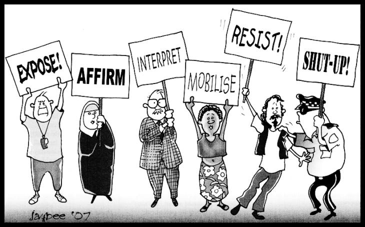 dissent shut up