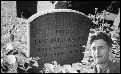 eric arthur blair grave ~ george orwell bw and visage