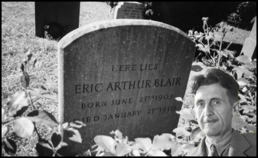 eric arthur blair grave ~ george orwell bw and visage