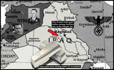 Iraq gold Assad lower color Red Arrow gold storage facilities Fallujah 600