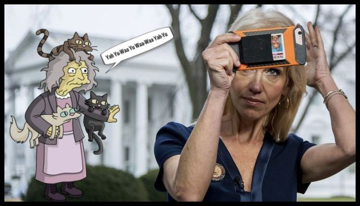 Cat Lady Kellyanne Conway LARGE