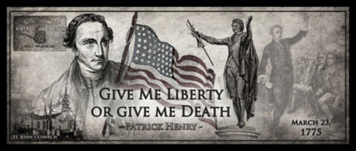 Patrick Henry Liberty or Death BW Almost 600
