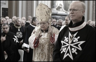 Knight of Malta in church