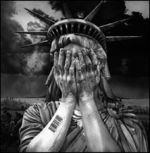 Lady Liberty lost Bar Code BW 750 (3)