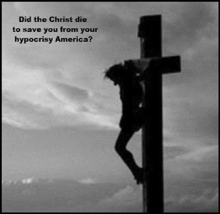 Christ cross hypocrisy 730