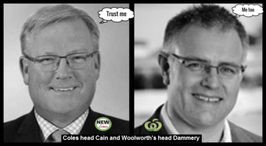 Coles head Cain Woolworth's head Dammery WITH LOGO'S 600