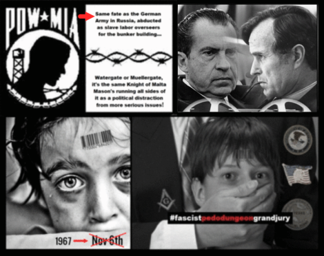NIXON x BUSH MIA Watergate Pedogate RED ARROW