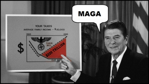 Reagan Nazi Eagle 220 Trillion MAGA