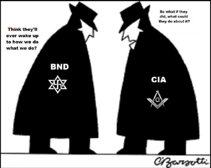 Spy Vs Spy black and white ~ BND CIA 730 CROPPED BOTTOM
