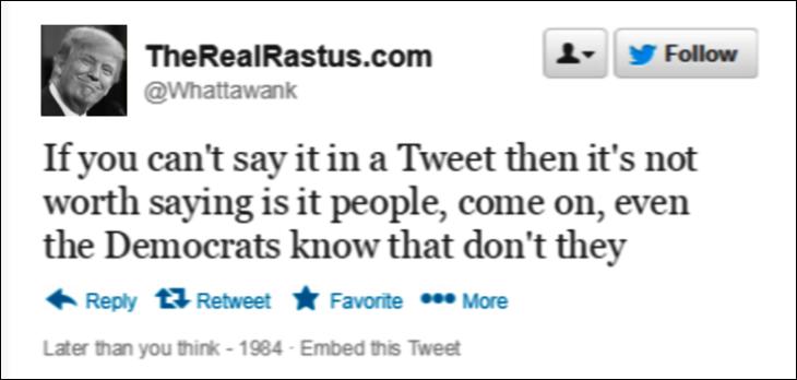 Trump Tweet mocky