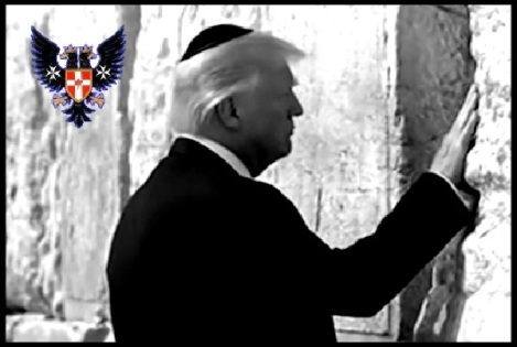 Trump Wailing Wall SMALLER BORDER Prussian Eagle 600