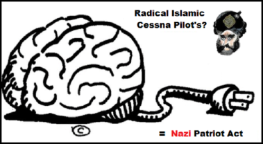 Brain Cessna Pilot's NAZI (Red) Patriot Act 730 (3)